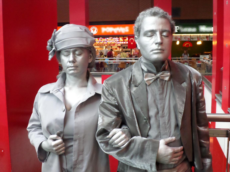 denizli 30 ağustos forum çamlık canlı heykel sergisi