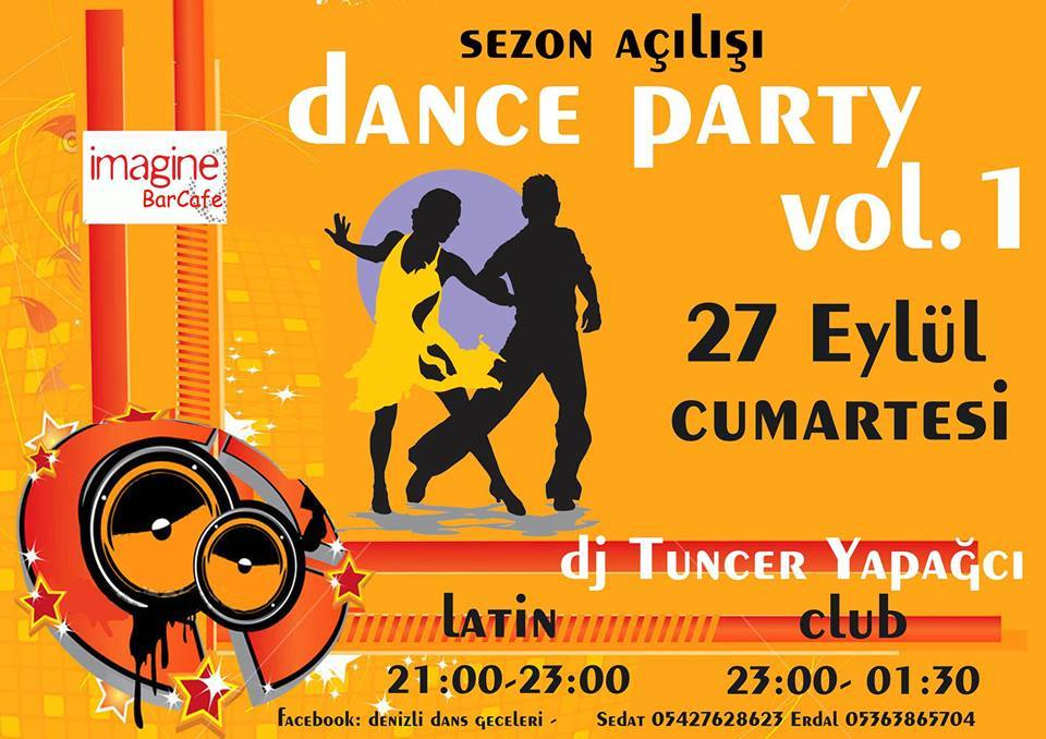 denizli imagine bar Latin + Club + Erasmus Dance Party Vol.1