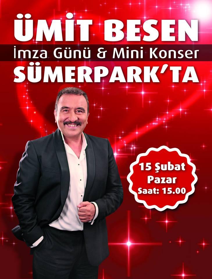 Denizli Ümit Besen konseri Sümer Park avm