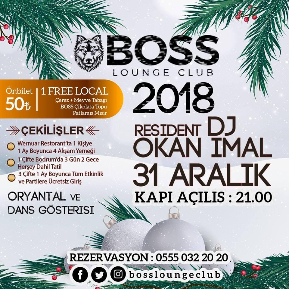 BOSS Lounge Club denizli yılbaşı 2018