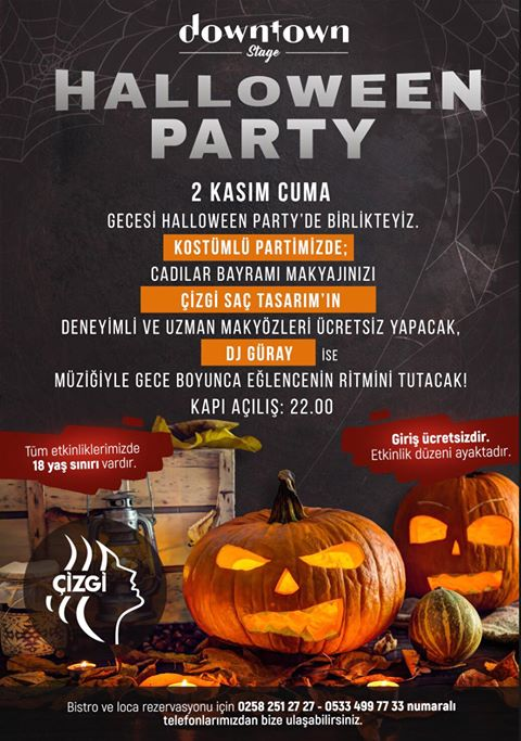 denizli halloween party downtown