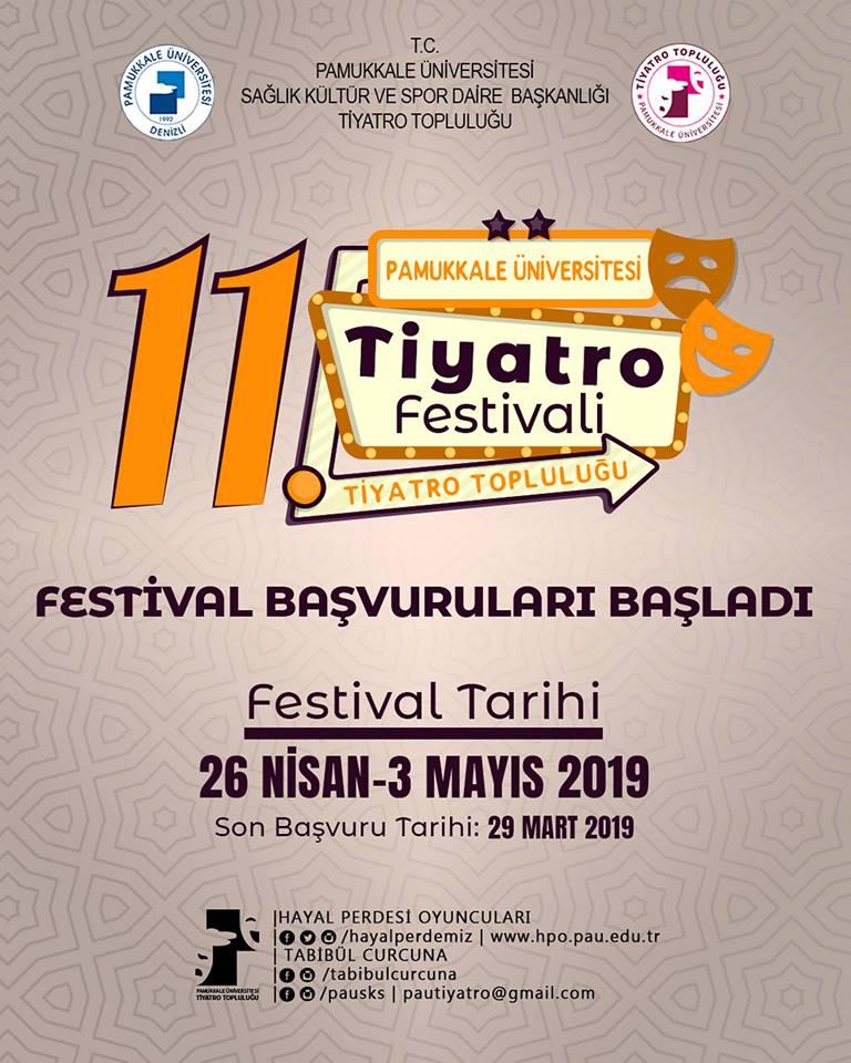 pamukkale üniversitesi 11.tiyatro festivali