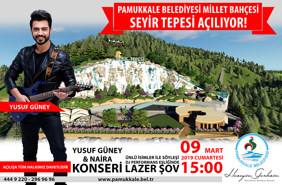 Denizli Yusuf Güney seyir tepesi konser
